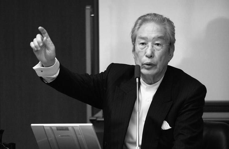 経営塾特別講師の田口佳史氏が幸之助と交わした問答を語る